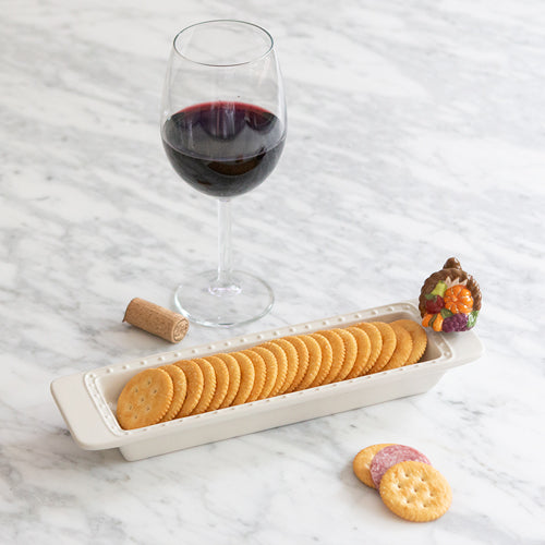 Nora Fleming Cracker Tray with Crackers