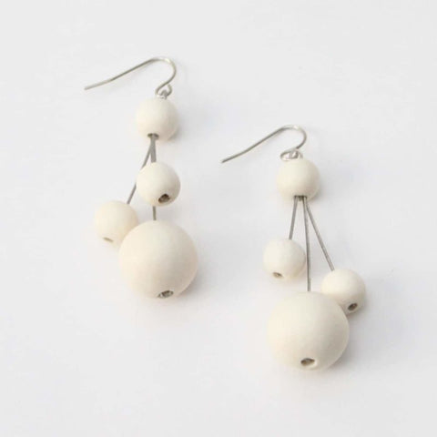 Ivory Berna Earrings by Sylca Designs