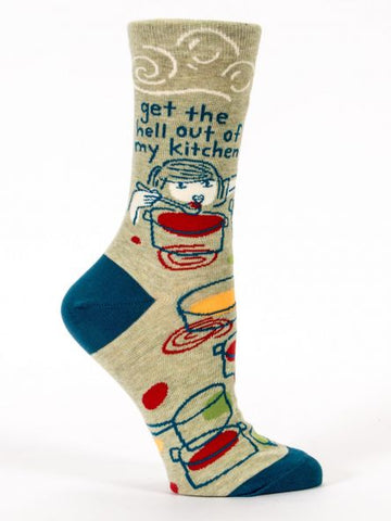Get The Hell Out Of My Kitchen - Womens Crew Socks