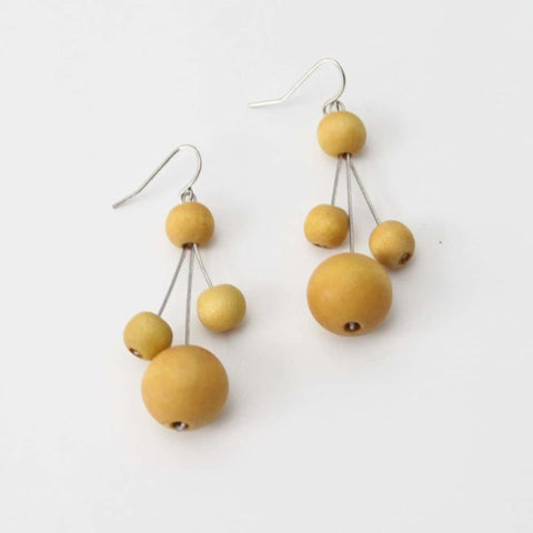 Mustard Berna Earrings by Sylca Designs