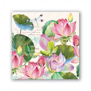 Water Lilies Cocktail Napkins