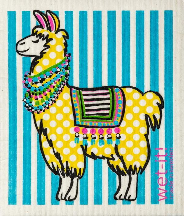 Wet-It! Polka Llama Dishcloth
