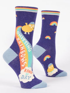 Shitting Rainbows Kind of Day Women's Crew Socks