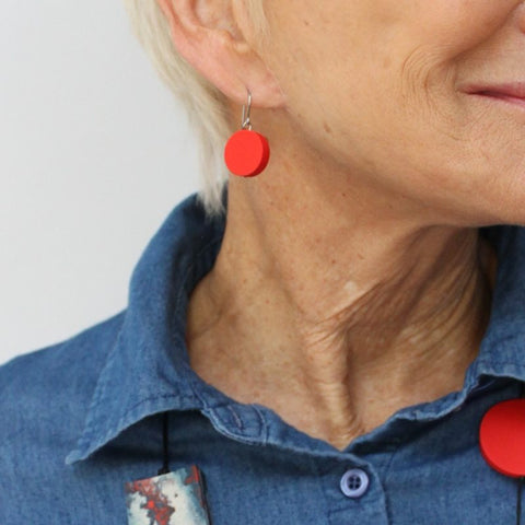 Red Sophie Earrings