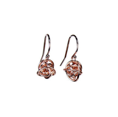 Tiny Scribbles 14k Rose Gold Fill Earrings