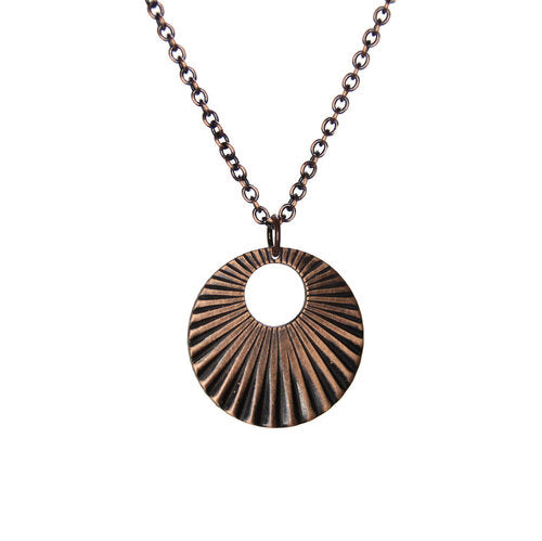 Sunburst Copper Necklace