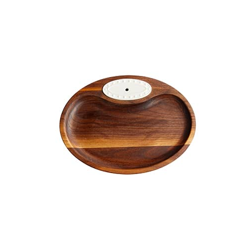 #N4-Walnut Tidbit Dish