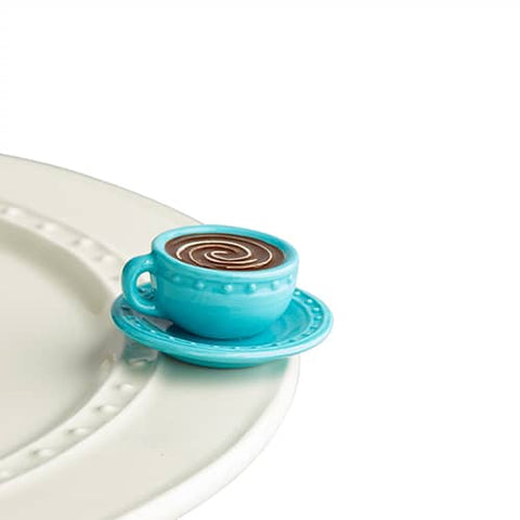 Blue cup and saucer mini