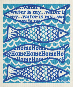 Wet-It! Water Is My Home Dishcloth