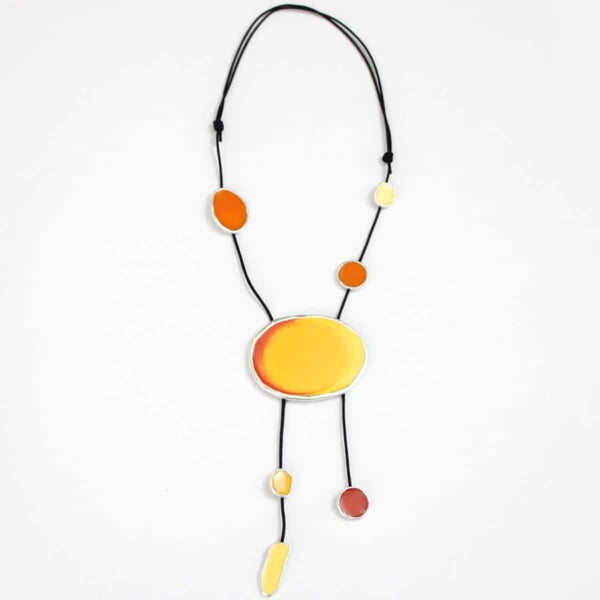 Yellow Adrianne Necklace by Sylca Designs