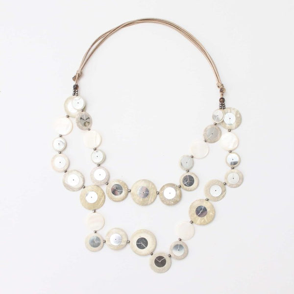 Ivory Double Strand Zoe Necklace