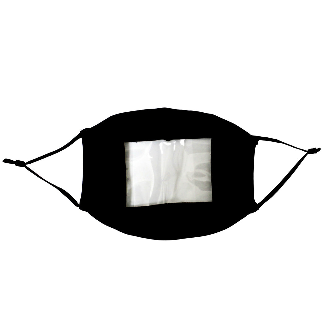 Read My Lips - Transparent Window Reusable Face Mask Black