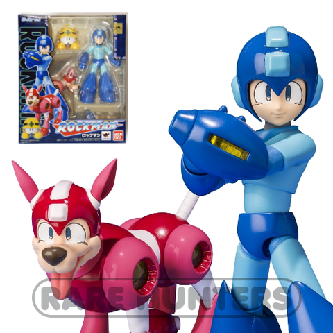 Capcom Bandai D-Arts 5-Inch Megaman Rockman, Rush & Met PVC Action Figure Set