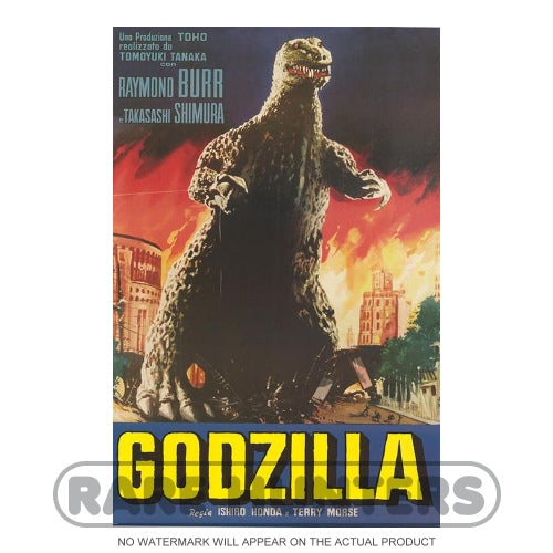 Godzilla Fire Framed Movie Poster