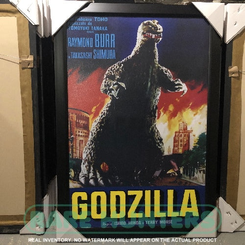 Actual Inventory - Godzilla Fire Framed Movie Poster