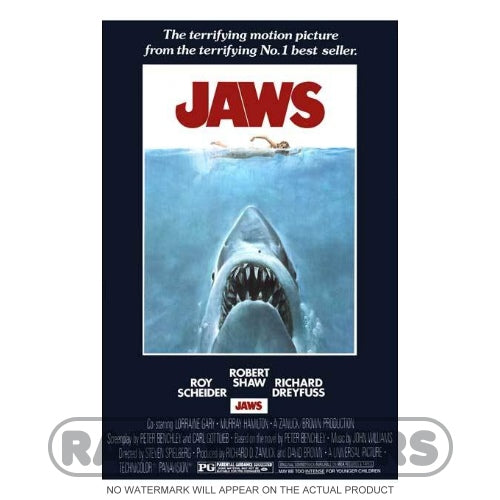Jaws Framed Movie Poster