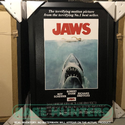 Actual Inventory - Jaws Framed Movie Poster