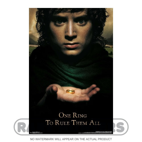 Lord of the Rings One Ring to Rule Them All Framed Movie Poster