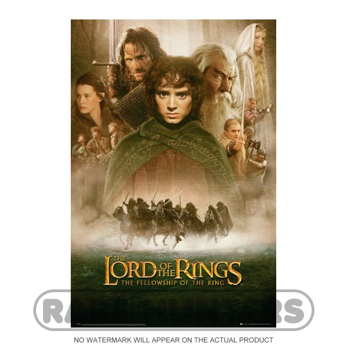 The Lord of the Rings Fellowship Framed Movie Poster