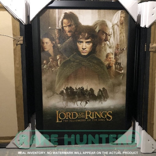 Real Inventory. The Lord of the Rings Fellowship Framed Movie Poster