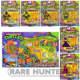 Teenage Mutant Ninja Turtles TMNT Classic 1988 Repro Retro Ultimate Figure / Party Wagon Van Set