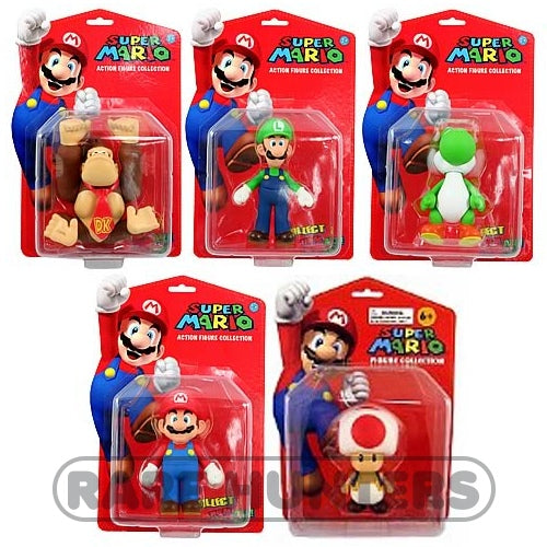 Super Mario Banpresto 2009 Figure Collection Full Wave: Mario, Luigi, Toad, Yoshi, Donkey Kong