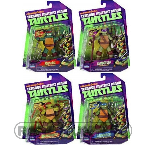 Nickelodeon Teenage Mutant Ninja Turtles Set of 4 Action Figures: Leonardo, Michelangelo, Raphael, Donatello
