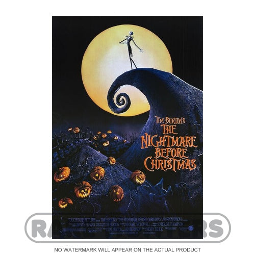 The Nightmare Before Christmas Framed Movie Poster