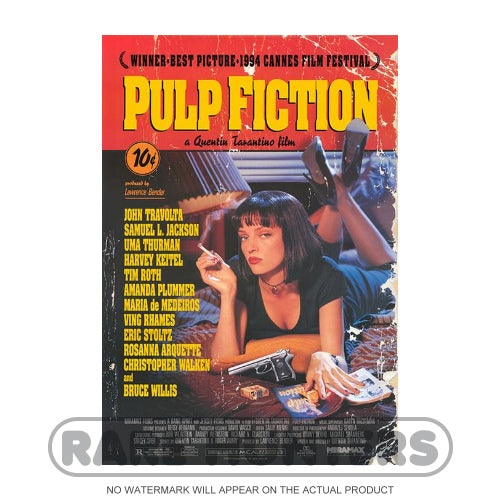 Pulp Fiction Framed Movie Poster