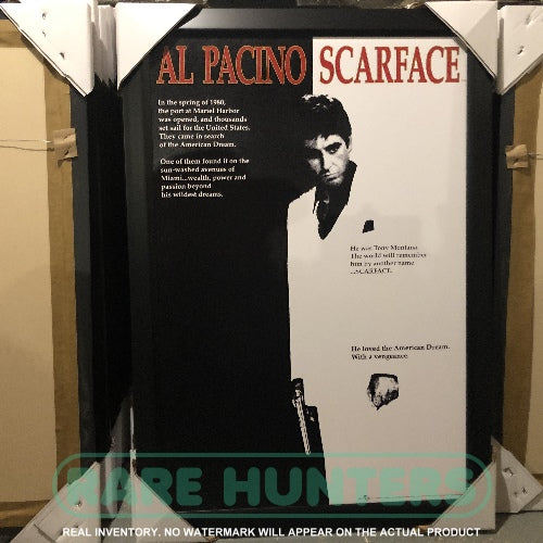 Actual Inventory - Scarface Framed Movie Poster