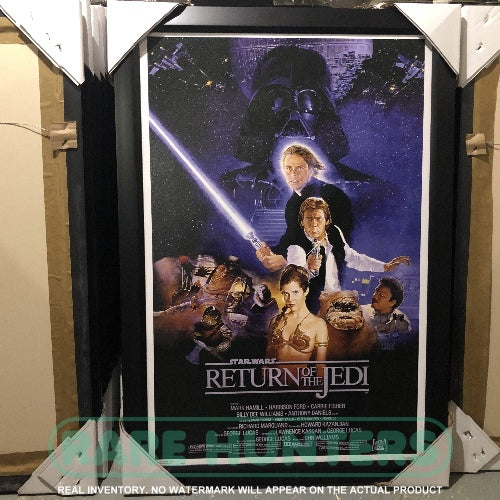 Real Inventory. Star Wars Episode VI Return of the Jedi Framed Movie Poster