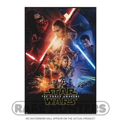 Star Wars Episode VII The Force Awakens Framed Movie Poster