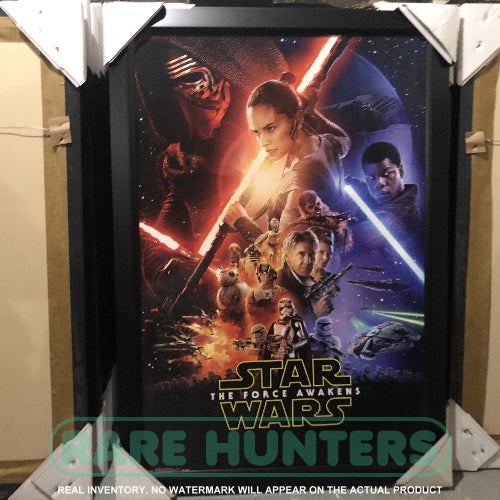 Real Inventory. Star Wars Episode VII The Force Awakens Framed Movie Poster