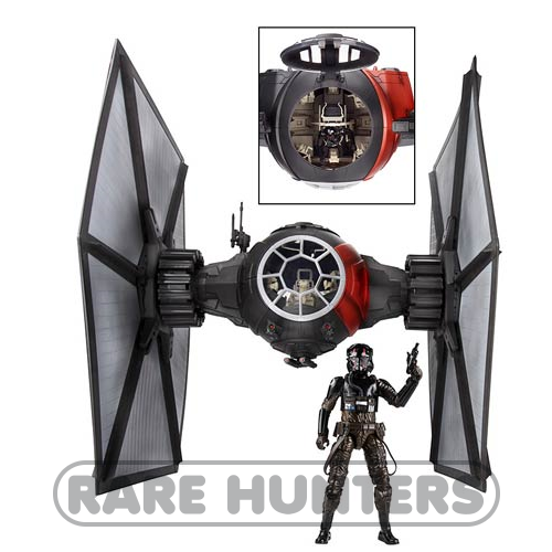 Star Wars Black Deluxe First Order TIE Fighter Vehicle with Pilot from Rare Hunters