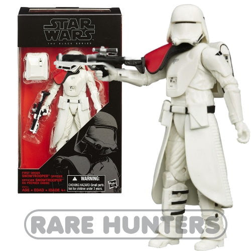 Star Wars Black First Order Snowtrooper Officer 6-Inch Figure from Rare Hunters