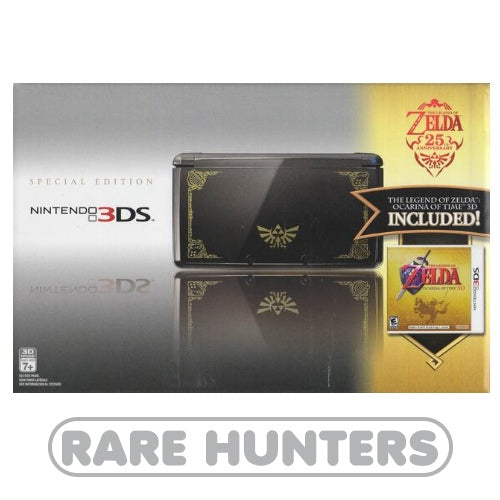 Nintendo 3DS 2011 - The Legend Of Zelda 25th Anniversary Limited Edition Black & Gold System