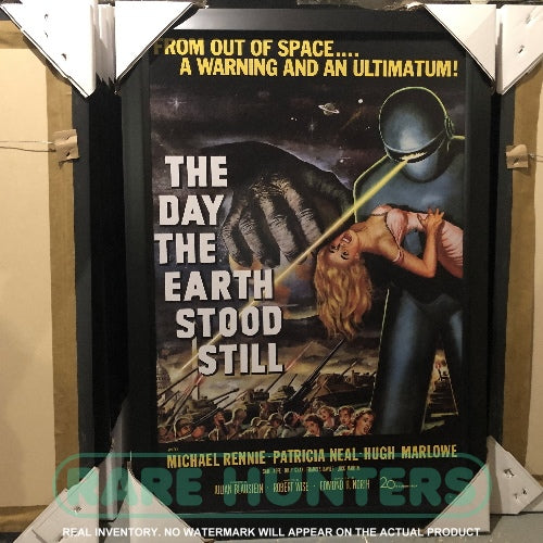 Actual Inventory - The Day the Earth Stood Still Framed Movie Poster