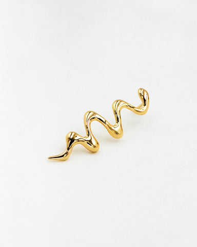 Alda Wave Pin in Gold
