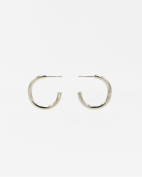 IDAMARI Lamé Hoop Earrings in Sterling Silver