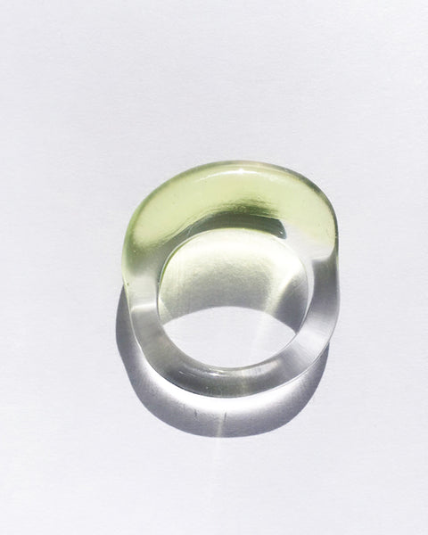 JANE D'ARENSBOURG Glass Multi Organic Band in Lime
