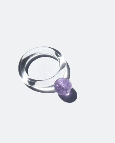 JANE D'ARENSBOURG Glass Dot Ring in Lilac