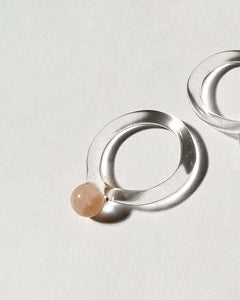JANE D'ARENSBOURG Glass Dot Ring in Peach