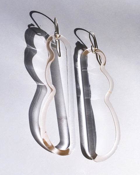 JANE D'ARENSBOURG Wave Earrings in Peach