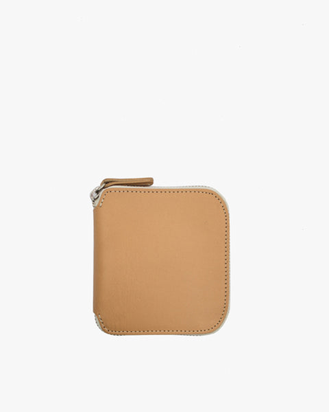 Square Zip Wallet in Natural