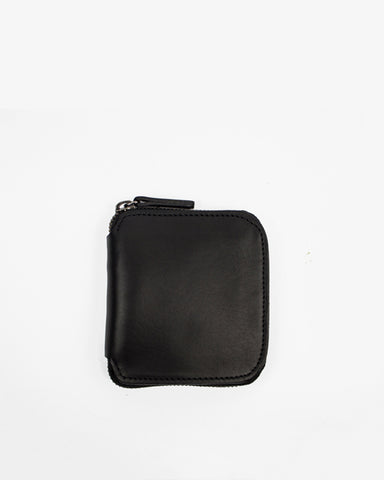 Le Bas Square Zip Wallet in Black