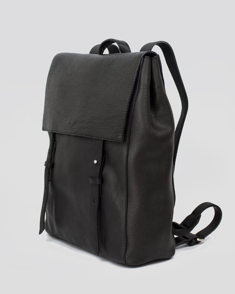 Le Bas Leather Backpack S in Black available at LAHN