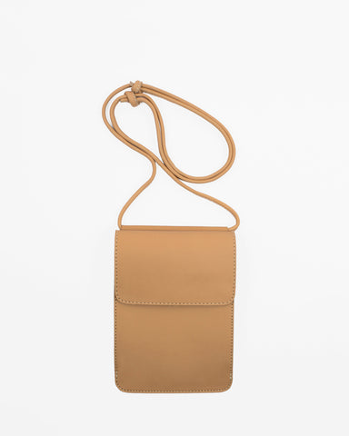 Le Bas Shoulder Pouch S3 Leather Bag in Natural available at Lahn