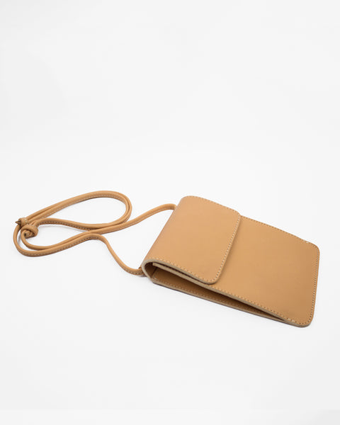 Le Bas Shoulder Pouch S3 Leather Bag in Natural