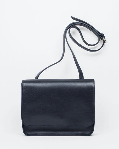 Le Bas Shoulder S1 Leather Crossbody Leather Bag in Navy