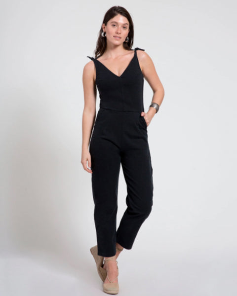 Slate Coveralls in Black